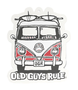 Old Guys Rule Good Vibes Air Freshener - Red