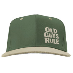 Old Guys Rule Stacked Logo Cap - Military Green