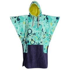 All-In V-Bumpy Changing Robe Poncho Blue/Navy/Lemon