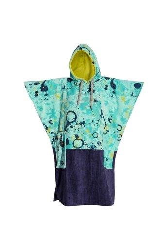 All-In V-Bumpy Changing Robe Poncho Blue/Navy/Lemon