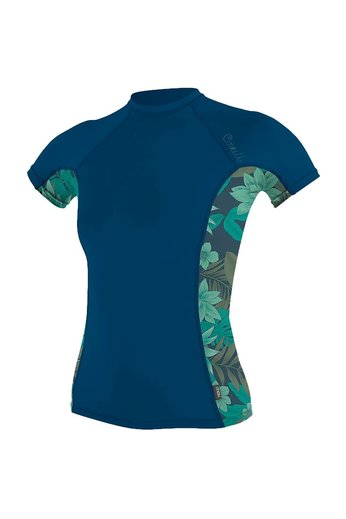 O'Neill Wetsuits Womens Side  S/S Rash Vest Abyss