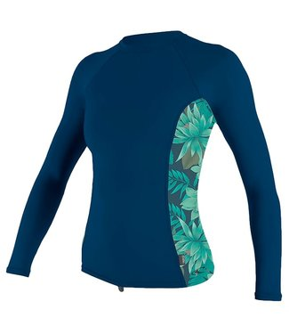 O'Neill Wetsuits Womens Side  L/S Rash Vest Abyss