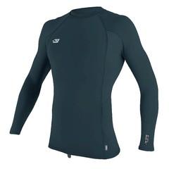 O'Neill Wetsuits Mens Skins L/S Rash Vest Slate