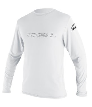 O'Neill Wetsuits Youth Skins L/S Rash Vest White