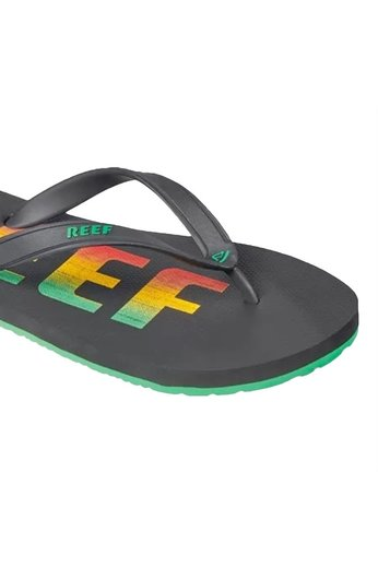 Reef Switchfoot Print Flip Flops Rasta/Black