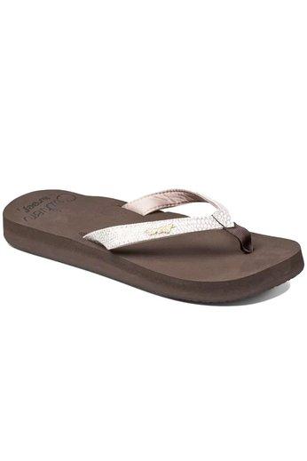 Reef Star Cushion Sassy Flip Flops Brown/White