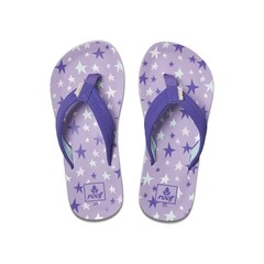 Reef Kids Ahi Flip Flops Purple Stars