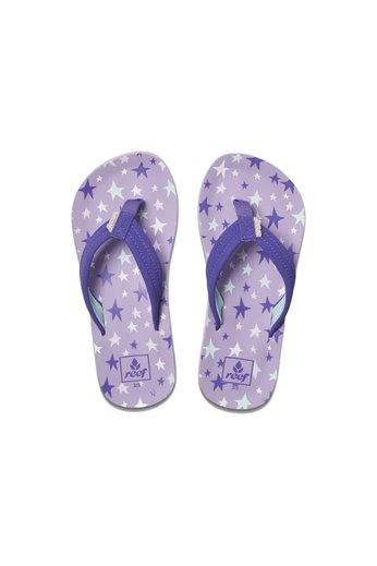 Reef Kids Ahi Flip Flops Purple Stars