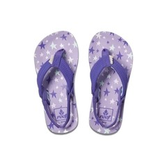 Reef Little Ahi Flip Flops Purple Stars
