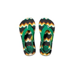 Reef Little Ahi Flip Flops Black/Green