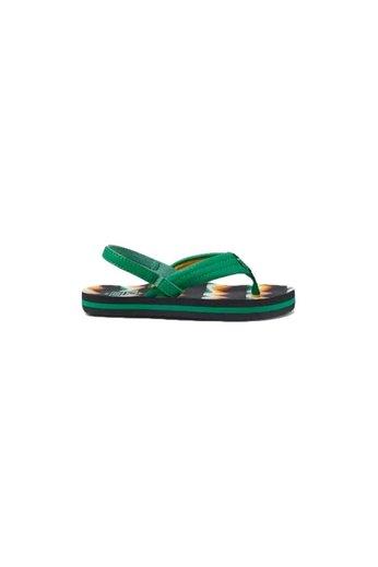 Reef Little Ahi Flip Flops Black/Green
