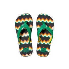 Reef Kids Ahi Flip Flops Black/Green
