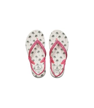 Reef Little Stargazer Print Flip Flops Palm Trees