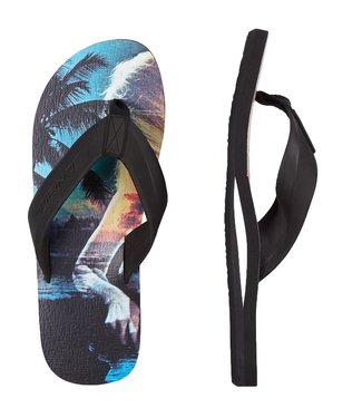 O'Neill Clothing Imprint Pattern Flip Flops Black AOP