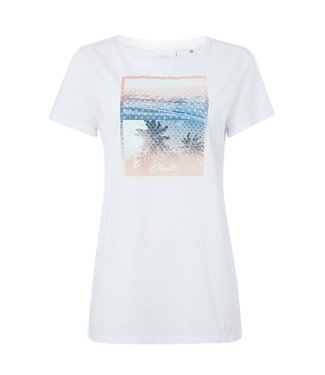 O'Neill Clothing Palm Photo Print Top Super White