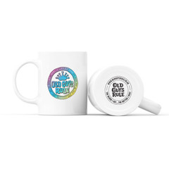 Old Guys Rule Coin Logo Mug White