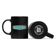 Old Guys Rule Rear View Mug Black
