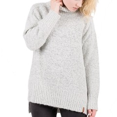 Passenger Wild Cherry Knit Jumper Grey Heather