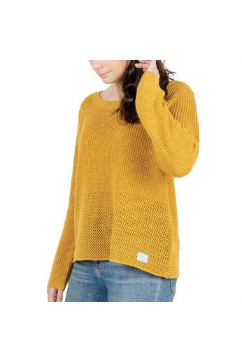 Passenger Songbird Knit Jumper Ochre Yellow