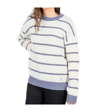Passenger Mull Knit Jumper Off White / Blue