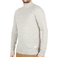 Passenger Crossing Knit Jumper Grey Fleck