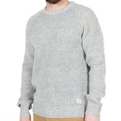 Passenger Lewis Knit Jumper Light Grey