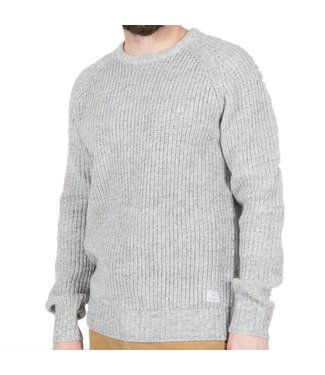 Passenger Lewis Knit Jumper Light Grey