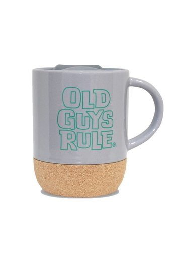 Old Guys Rule Stacked Travel Mug Charcoal