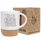 Old Guys Rule Stacked Travel Mug White