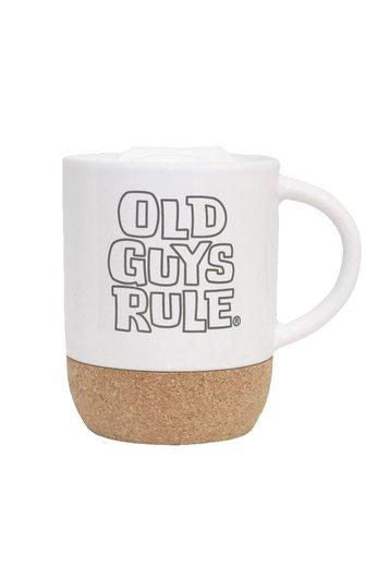 Old Guys Rule Stacked Travel Mug White