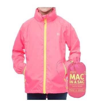 Mac in a Sac Kids Mac in a Sac Jacket Neon Pink
