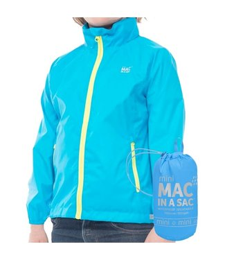 Mac in a Sac Kids Mac in a Sac Jacket Neon Blue