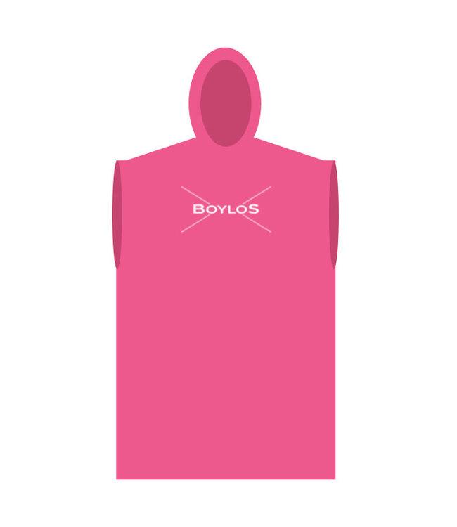 Boylo's Boylo's Hooded Towel Robe Fuschia