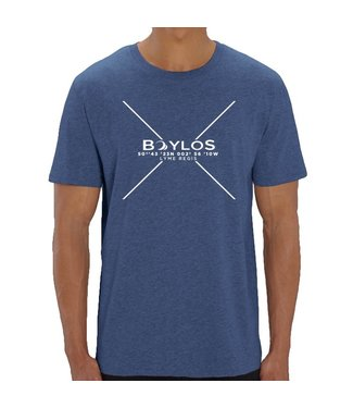 Boylo's Mens X Co-ord T-Shirt - Dark Heather Indigo