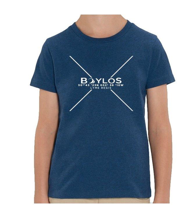 Boylo's Kids X Co-ord T-Shirt - Dark Heather Blue
