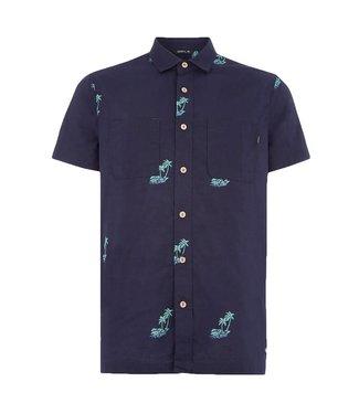 O'Neill Clothing Palm S/S Shirt Blue AOP
