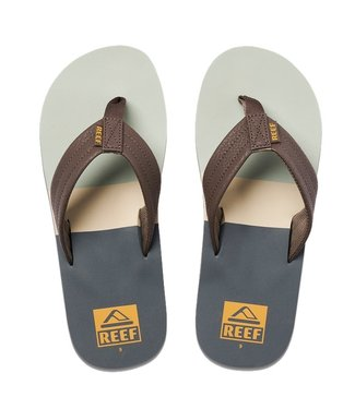 Reef Tri Waters Flip Flops Grey/Green