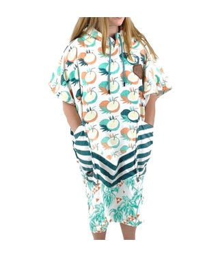 All-In V-Bumpy Changing Robe Poncho Coconut Palm Tree