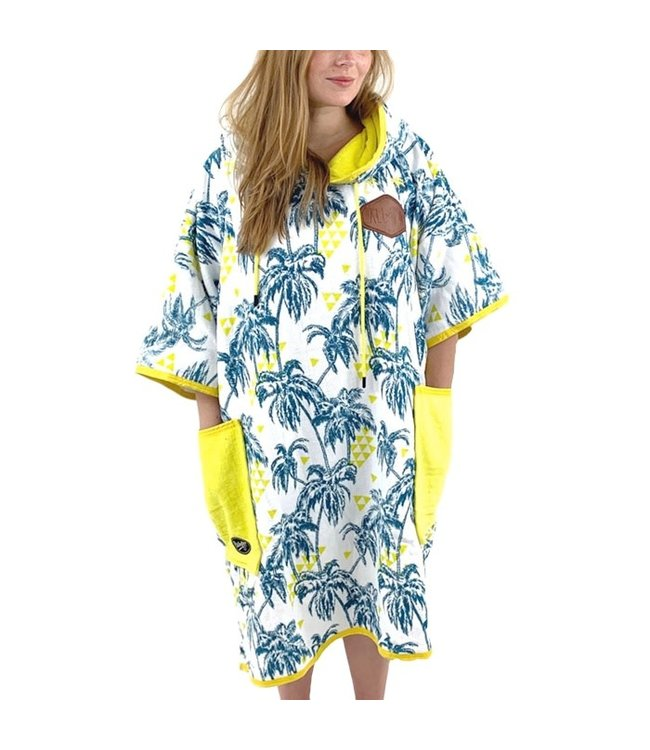 All-In T-Bumpy Changing Robe Poncho Palm Tree Yellow
