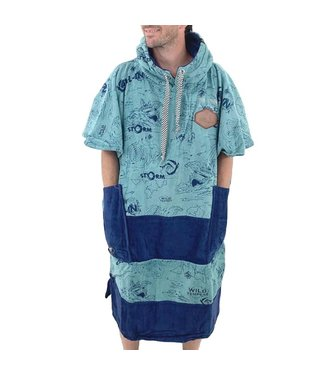 All-In V-Bumpy Changing Robe Poncho Storm Grey Blue