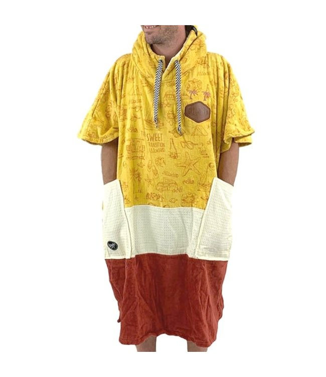 All-In V-Bumpy Changing Robe Poncho Beach Camp Waffle