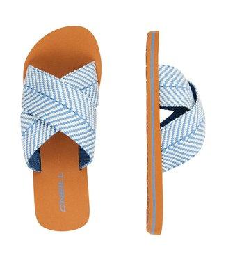 O'Neill Clothing Ditsy Slide Flip Flops Walton Blue