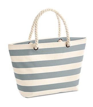 Boylo's WM Nautical Beach Bag - Natural/Grey