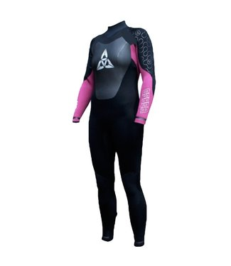 Womens Halo 3/2mm Full Wetsuit Black/Pink