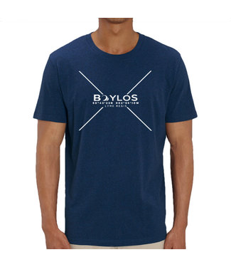 Boylo's Mens X Co-ord T-Shirt - Black Heather Blue