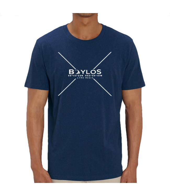 Boylo's Mens X Co-ord T-Shirt - Black Heather Blue