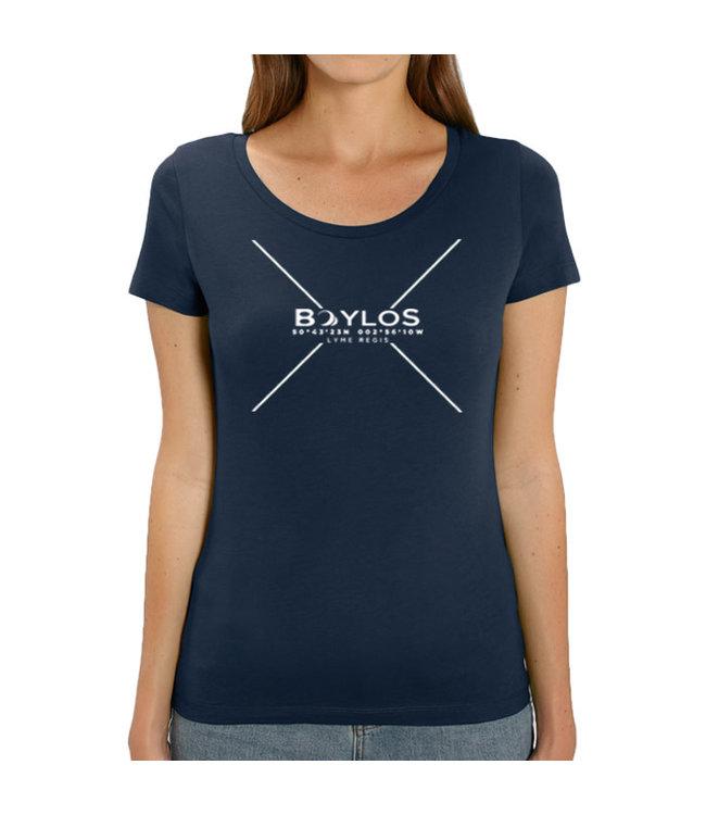 Boylo's Womens X Co-ord T-Shirt - Navy