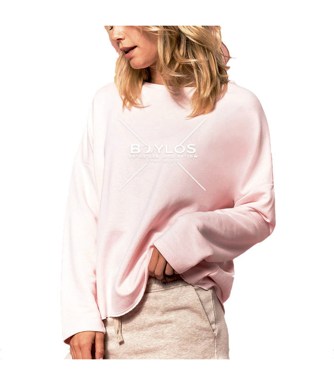 Boylo's Womens X Co-ord Oversized Jumper Pale Pink