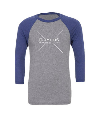 Boylo's Boylos X Co-ord LS T-Shirt Grey/Navy