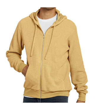 B. Canvas Zip Hoody Heather Mustard